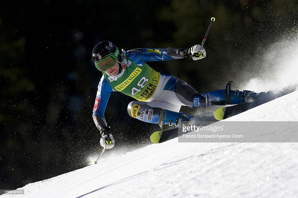Megan McJames of the USA competes during the Audi FIS Alpine Ski World Cup Women's Giant Slalom on November 24, 2012 in Aspen, Colorado.