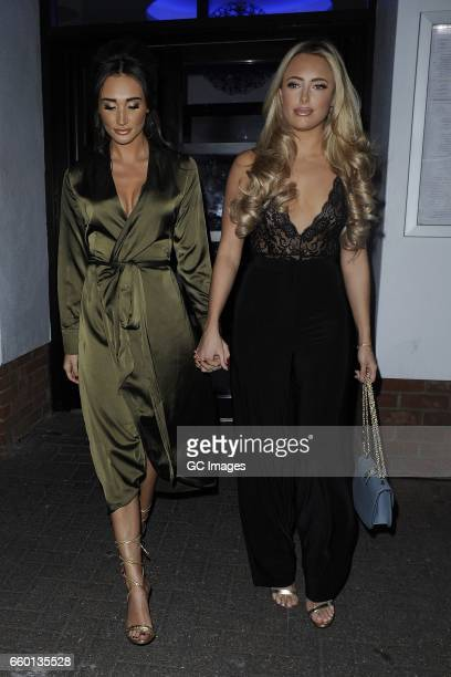 Megan McKenna and Amber Turner seen at Faces Nightclub in Chelmsford Essex on March 28 2017 in London England
