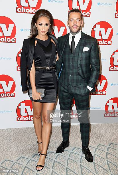 Megan McKenna and Pete Wicks arrive for the TV Choice Awards at The Dorchester on September 5 2016 in London England