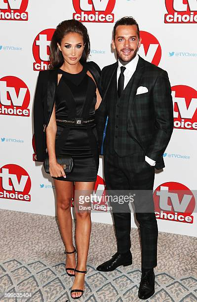 Megan McKenna and Pete Wicks arrive for the TVChoice Awards at The Dorchester on September 5 2016 in London England