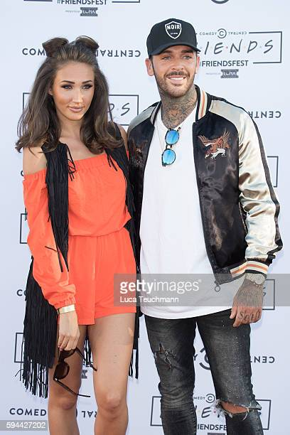 Megan McKenna and Pete Wicks attend launches Comedy Central's Friendfest at Haggerston Park on August 23 2016 in London England