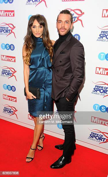 Megan McKenna and Pete Wicks attend the Daily Mirror's Pride of Sport awards at The Grosvenor House Hotel on December 7 2016 in London England
