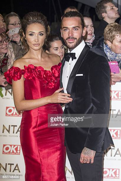 Megan McKenna and Pete Wicks attend the National Television Awards at The O2 Arena on January 25 2017 in London England