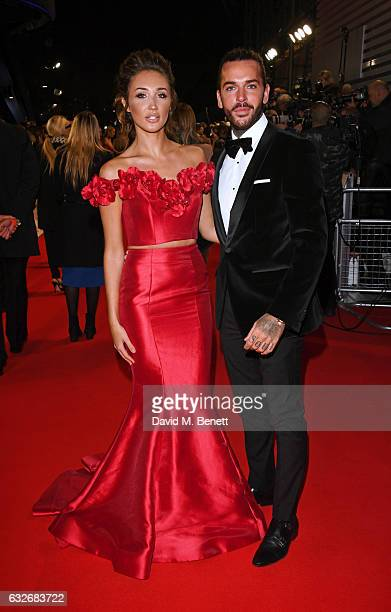 Megan McKenna and Pete Wicks attend the National Television Awards on January 25 2017 in London United Kingdom