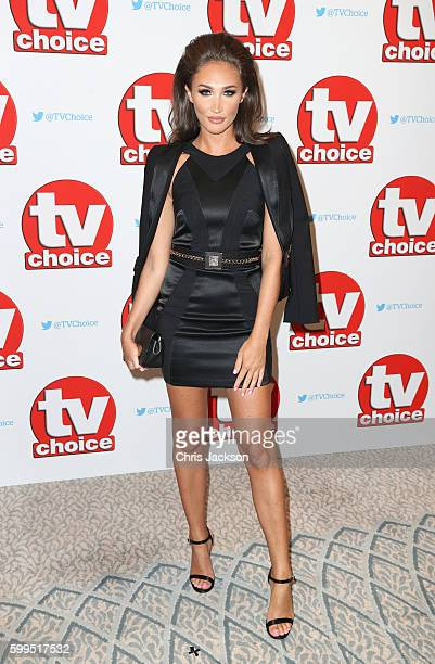 Megan McKenna arrives for the TV Choice Awards at The Dorchester on September 5 2016 in London England