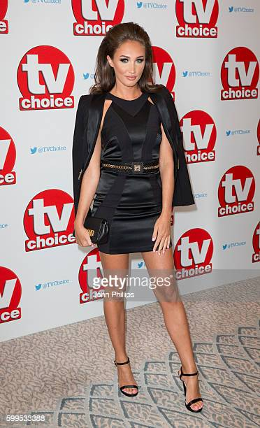 Megan McKenna arrives for the TV Choice Awards at The Dorchester Hotel on September 5 2016 in London England