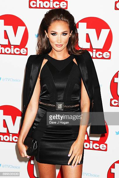 Megan McKenna arrives for the TVChoice Awards at The Dorchester on September 5 2016 in London England