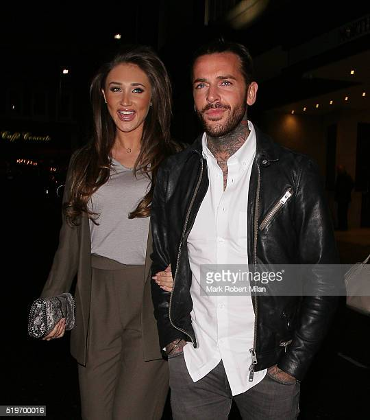 Megan McKenna attending James Ingham's JogOn to Cancer Part 4 Party on April 7 2016 in London England