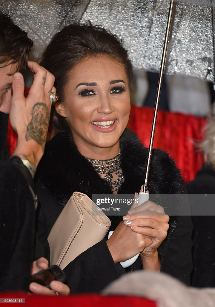 Megan McKenna attends the final of Celebrity Big Brother at Elstree Studios on February 5, 2016 in Borehamwood, England.