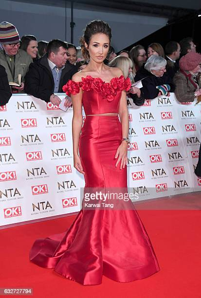 Megan McKenna attends the National Television Awards at The O2 Arena on January 25 2017 in London England