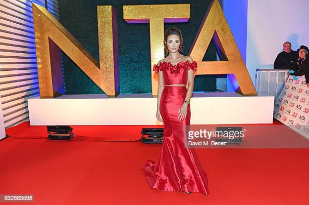 Megan McKenna attends the National Television Awards on January 25 2017 in London United Kingdom