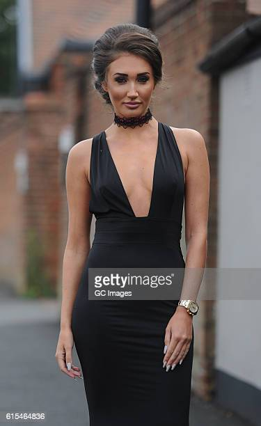 Megan McKenna is seen filming for Reality TV show TOWIE on October 12 2016 in Essex England