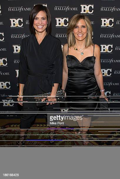 Megan Meany and Alisyn Camerota attend the Broadcasting and Cable 23rd Annual Hall of Fame Awards Dinner at The Waldorf Astoria on October 28 2013 in...