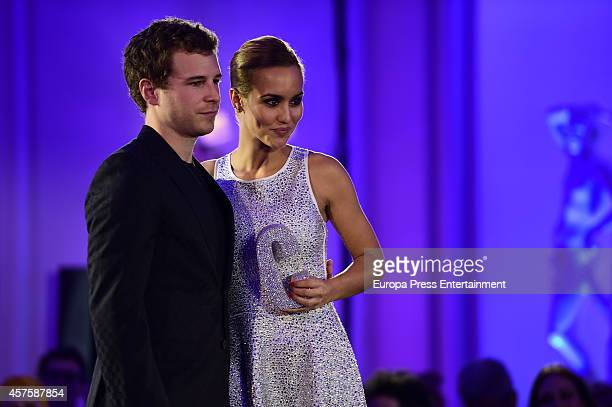Megan Montaner and Alvaro Cervantes attend the 7th annual Cosmopolitan Fun Fearless Female Awards on October 20 2014 in Madrid Spain
