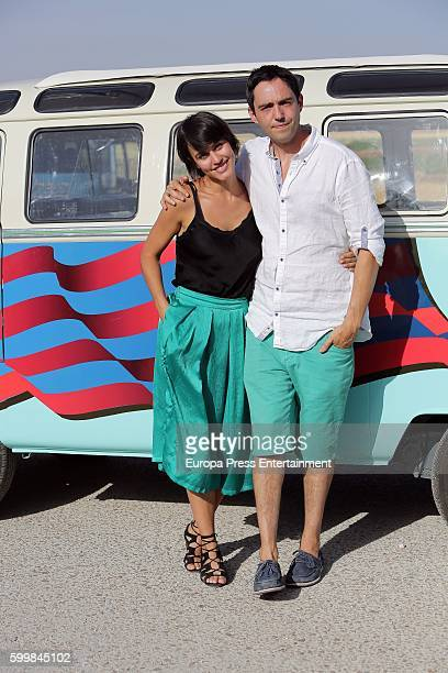 Megan Montaner and David Guapo are seen during the set filming of 'Senor Dame Paciencia' on September 6 2016 in Campo Real Spain