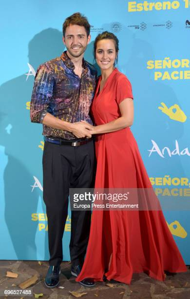 Megan Montaner and David Guapo attend the 'Senor dame paciencia' premiere at Fortuny Palace on June 15 2017 in Madrid Spain