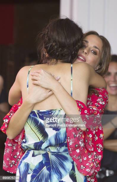 Megan Montaner and Silvia Alonso attend 'Senor dame paciencia' photocall on June 13 2017 in Madrid Spain