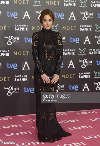 Megan Montaner attends Goya Cinema Awards 2015 at Centro de Congresos Principe Felipe on February 7 2015 in Madrid Spain