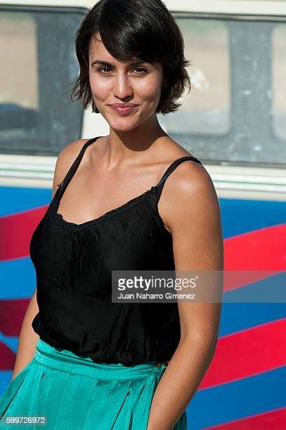 Megan Montaner attends 'Senor Dame Paciencia' photocall at set filming on September 6 2016 in Campo Real Spain