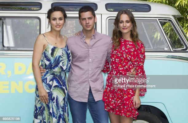 Megan Montaner Eduardo Casanova and Silvia Alonso attend 'Senor dame paciencia' photocall on June 13 2017 in Madrid Spain
