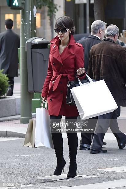 Megan Montaner is seen on the set filming of 'La Embajada' on June 16 2016 in Madrid Spain