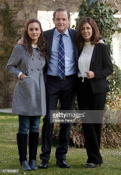 Megan Montaner Jordi Rebellon and Lydia Bosch attend 'Sin Identidad' Tv Serie Presentation at Navalmanzano street on March 11 2014 in Madrid Spain