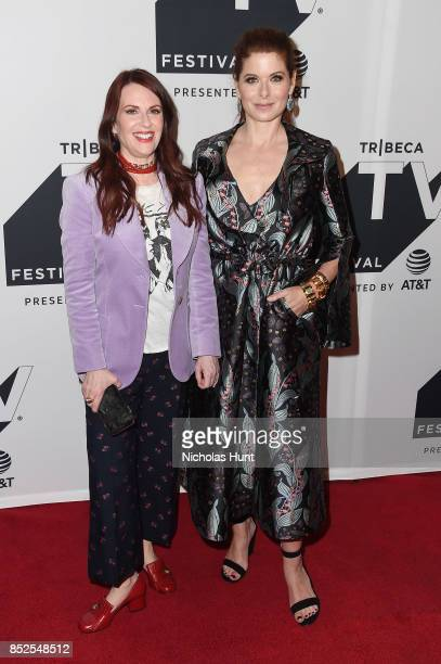 Megan Mullally and Debra Messing attend the Tribeca TV Festival exclusive celebration for Will Grace at Cinepolis Chelsea on September 23 2017 in New...