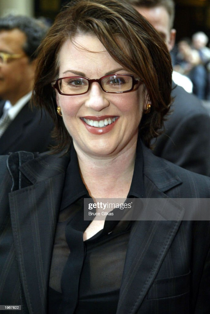 Megan Mullally arrives at the Opening Night of 'Gypsy' on Broadway at The Shubert Theatre on May 1, 2003 in New York City.