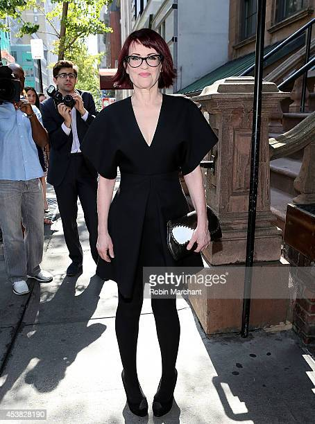 Megan Mullally attends the 'It's Only A Play' Cast Photocall at Joe Allen Restaurant on August 19 2014 in New York City