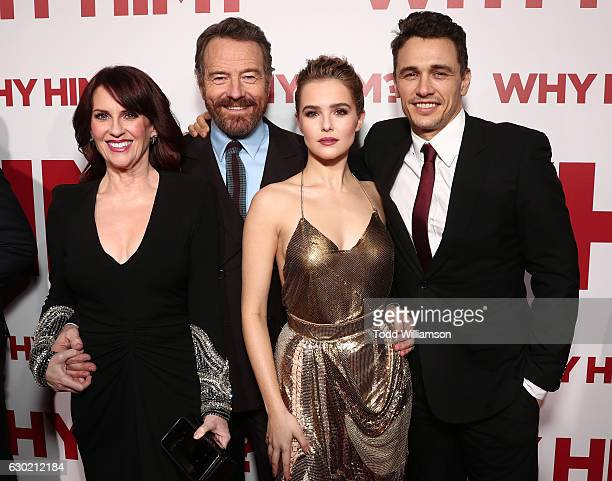 Megan Mullally Bryan Cranston Zoey Deutch and James Franco attend the premiere Of 20th Century Fox's 'Why Him' at Regency Bruin Theater on December...