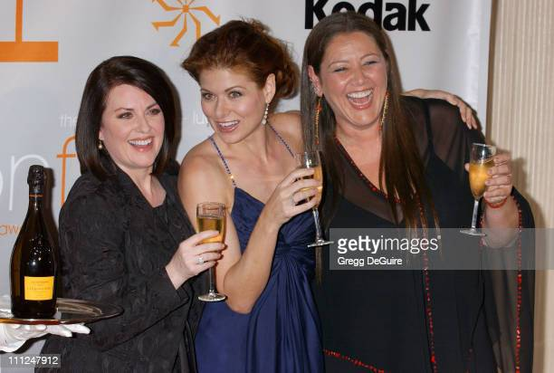 Megan Mullally Debra Messing and Camryn Manheim during 2005 Women In Film Crystal Lucy Awards Arrivals in Beverly Hills California United States