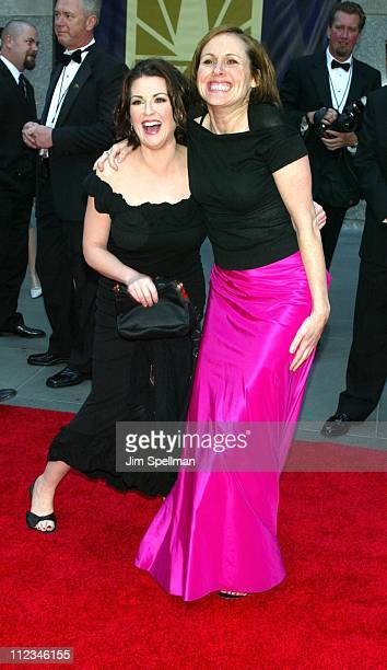 Megan Mullally Molly Shannon during NBC 75th Anniversary at Rockefeller Plaza in New York City New York United States
