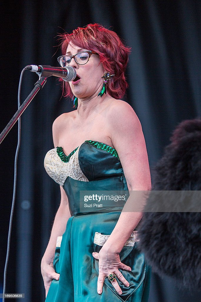 Megan Mullaly and Stephanie Hunt of Nancy and Beth perform live at the Sasquatch Music Festival at The Gorge on May 25, 2013 in George, Washington.