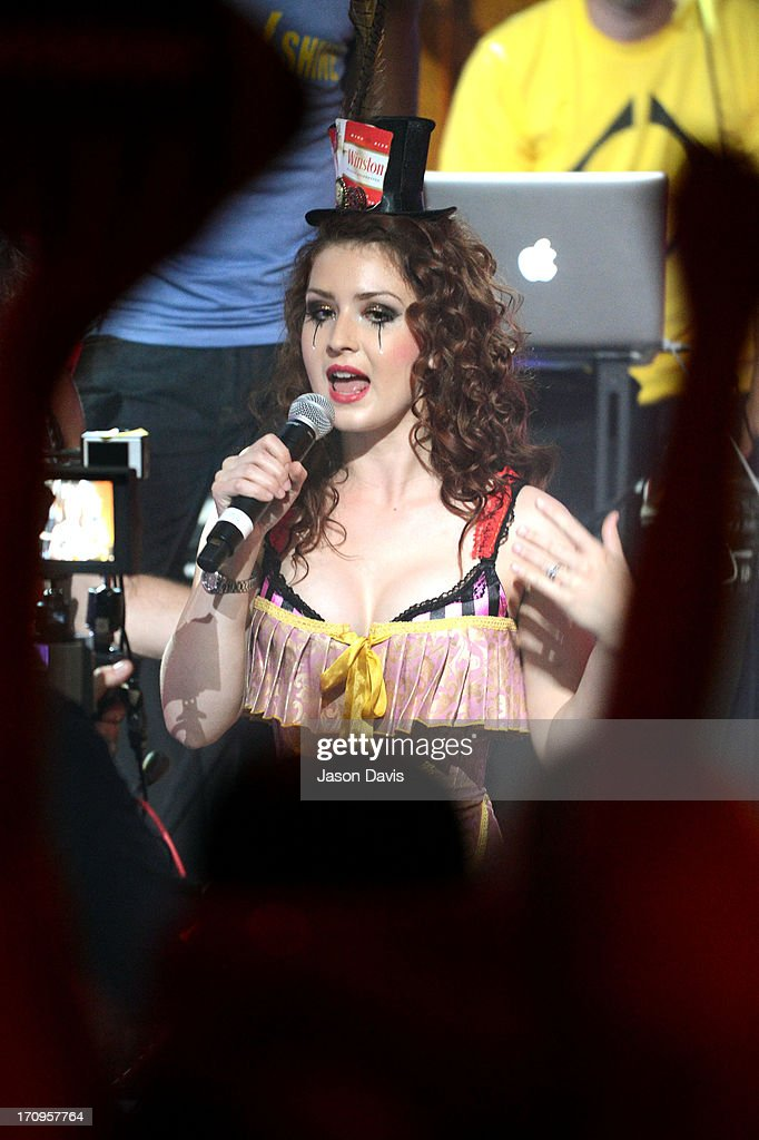 Megan Mullins of Electro Shine performs during the MTV, VH1, CMT & LOGO 2013 O Music Awards on June 20, 2013 in Nashville, Tennessee.
