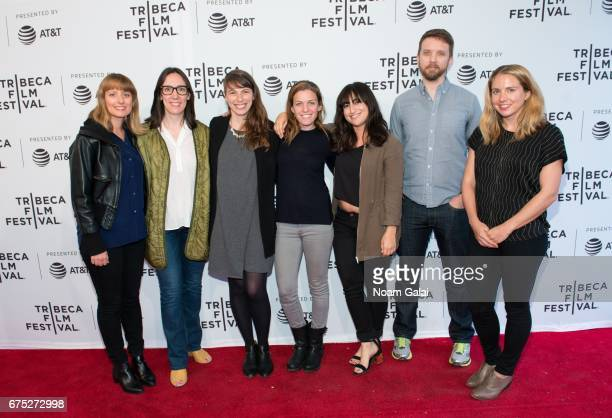 Megan Mylan Andrea Meller Marisa Pearl and Gina Pollack attend the New York Times OpDocs screening during 2017 Tribeca Film Festival on April 30 2017...