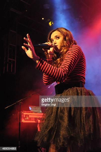 Megan Nicole performs on stage at O2 Islington Academy on January 25 2014 in London United Kingdom