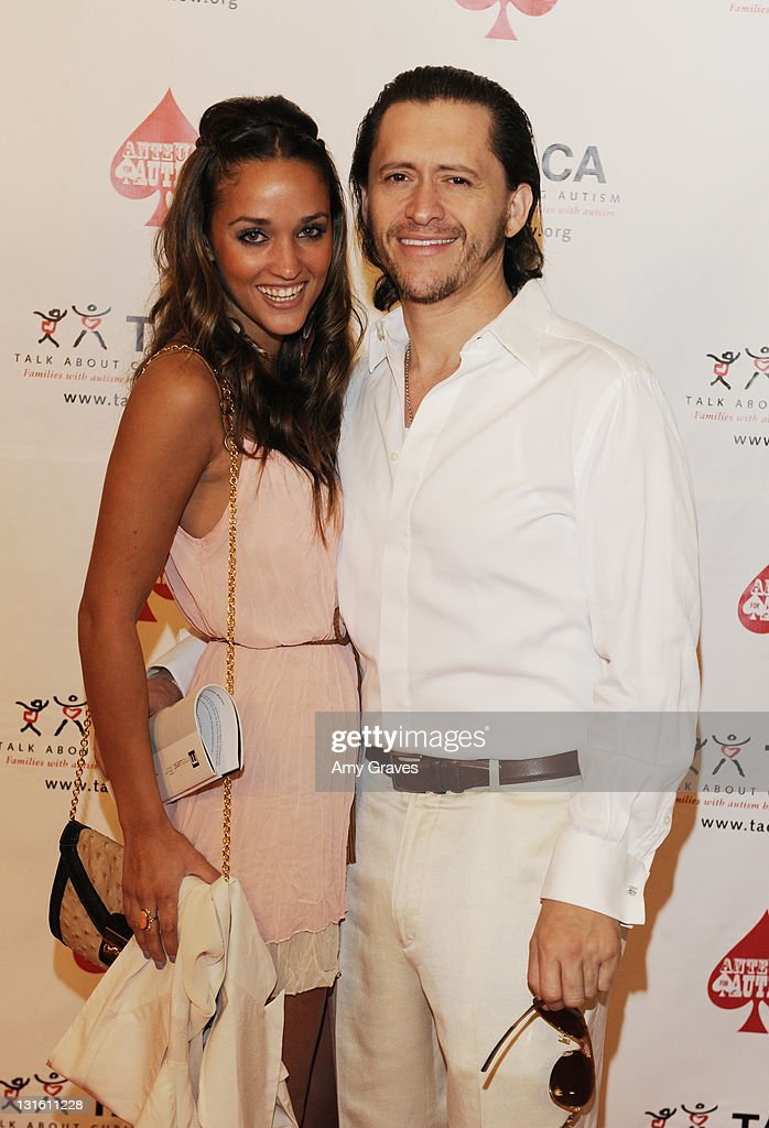 Megan Ozurovich and Clifton Collins Jr. attend the Ante-Up for Autism Event at St. Regis Monarch Beach Resort on November 5, 2011 in Dana Point, California.