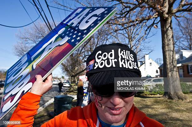 Megan PhelpsRoper of the Westboro Baptist Church a Kansas church known for its vehement antigay positions and for protesting at US soldiers' funeral...