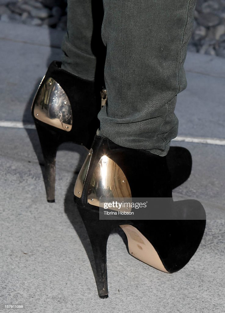 Megan Raich (shoe detail) attends the 'Edge Of Salvation' Los Angeles premiere at ArcLight Cinemas on December 6, 2012 in Hollywood, California.