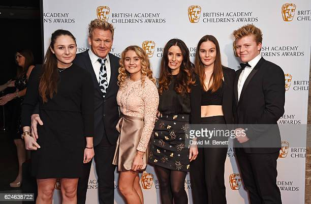 Megan Ramsay Gordon Ramsay Matilda Ramsay Tana Ramsay Holly Ramsay and Jack Ramsay at the BAFTA Children's Awards at The Roundhouse on November 20...
