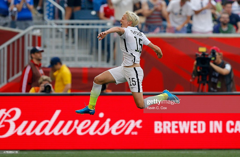 <a gi-track='captionPersonalityLinkClicked' href=/galleries/search?phrase=Megan+Rapinoe&family=editorial&specificpeople=736784 ng-click='$event.stopPropagation()'>Megan Rapinoe</a> #15 of United States celebrates her opening goal against Australia in the first half during the FIFA Women's World Cup 2015 Group D match at Winnipeg Stadium on June 8, 2015 in Winnipeg, Canada.