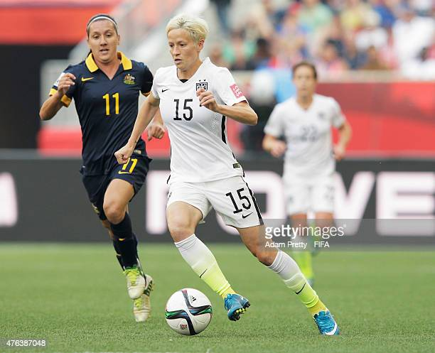 Megan Rapinoe of United States of America in action during the FIFA Women's World Cup Canada 2015 Group D match between USA and Australia at Winnipeg...