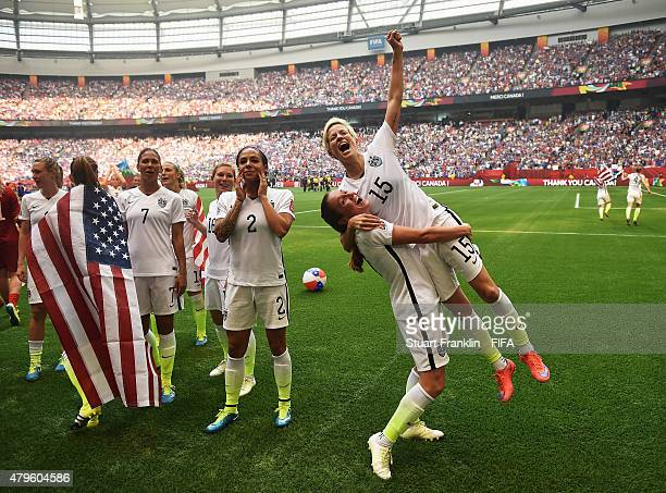 Megan Rapinoe of USA celebrates after winning the FIFA Women's World Cup Final between USA and Japan at BC Place Stadium on July 5 2015 in Vancouver...