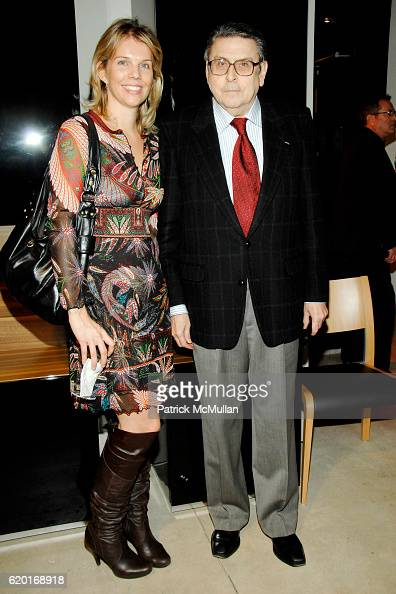megan reilly and martin riskin attend huelsta rolf benz studio for the cure at new york blue angel rolf benz entire collection