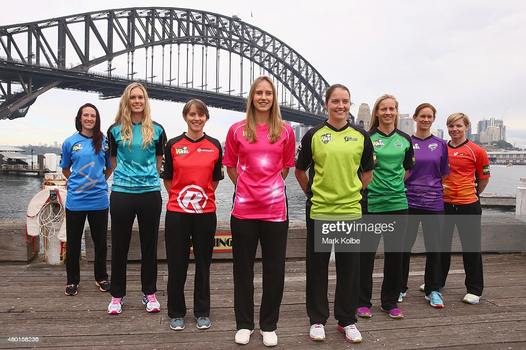 <a gi-track='captionPersonalityLinkClicked' href=/galleries/search?phrase=Megan+Schutt&family=editorial&specificpeople=8558837 ng-click='$event.stopPropagation()'>Megan Schutt</a> of the Adelaide Strikers, <a gi-track='captionPersonalityLinkClicked' href=/galleries/search?phrase=Holly+Ferling&family=editorial&specificpeople=10058807 ng-click='$event.stopPropagation()'>Holly Ferling</a> of the Brisbane Heat, <a gi-track='captionPersonalityLinkClicked' href=/galleries/search?phrase=Sarah+Elliott+-+Giocatrice+di+cricket&family=editorial&specificpeople=12725636 ng-click='$event.stopPropagation()'>Sarah Elliott</a> of the Melbourne Renegades, <a gi-track='captionPersonalityLinkClicked' href=/galleries/search?phrase=Ellyse+Perry&family=editorial&specificpeople=4414813 ng-click='$event.stopPropagation()'>Ellyse Perry</a> of the Sydney Sixers, <a gi-track='captionPersonalityLinkClicked' href=/galleries/search?phrase=Rene+Farrell&family=editorial&specificpeople=4081063 ng-click='$event.stopPropagation()'>Rene Farrell</a> of the Sydney Thunder, <a gi-track='captionPersonalityLinkClicked' href=/galleries/search?phrase=Meg+Lanning&family=editorial&specificpeople=5656168 ng-click='$event.stopPropagation()'>Meg Lanning</a> of the Melbourne Stars, <a gi-track='captionPersonalityLinkClicked' href=/galleries/search?phrase=Julie+Hunter&family=editorial&specificpeople=2132021 ng-click='$event.stopPropagation()'>Julie Hunter</a> of the Hobart Hurricanes and <a gi-track='captionPersonalityLinkClicked' href=/galleries/search?phrase=Jess+Cameron+-+Giocatore+di+cricket&family=editorial&specificpeople=12709381 ng-click='$event.stopPropagation()'>Jess Cameron</a> of the Perth Scorchers pose during the Women's Big Bash League season launch at Luna Park on July 10, 2015 in Sydney, Australia.