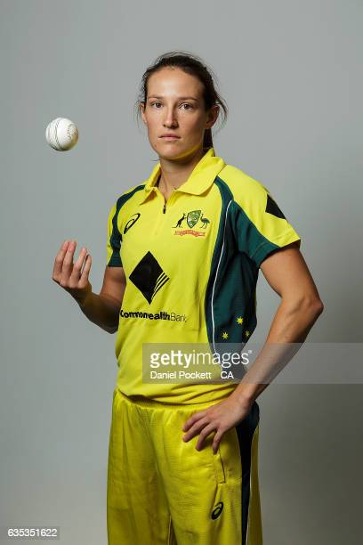 Megan Schutt poses during the Southern Stars Twenty20 Headshots Session on February 14 2017 in Melbourne Australia
