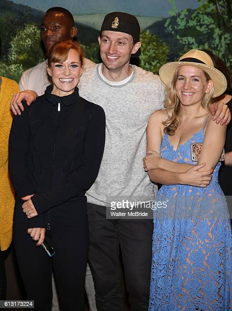 Megan Sikora Bryce Pinkham and Lora Lee Gayer during the Actors' Equity Opening Night Gypsy Robe Ceremony celebrating Jennifer Foote for 'Holiday...