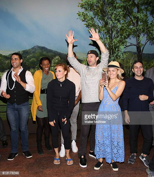 Megan Sikora Bryce Pinkham and Lora Lee Gayer with the cast during the Actors' Equity Opening Night Gypsy Robe Ceremony celebrating Jennifer Foote...
