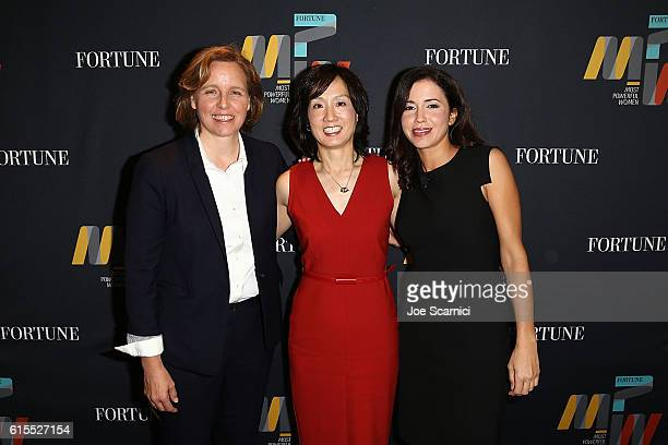 Megan Smith Michelle Lee and Michal LevRam attend the Fortune Most Powerful Women Summit 2016 at RitzCarlton Laguna Niguel on October 18 2016 in Dana...
