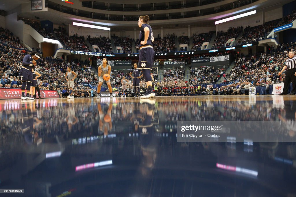 Megan Walker #3 of the Connecticut Huskies shooting a free throw during the the UConn Huskies Vs Notre Dame, NCAA Women's Basketball game at the XL Center, Hartford, Connecticut. December 3, 2017